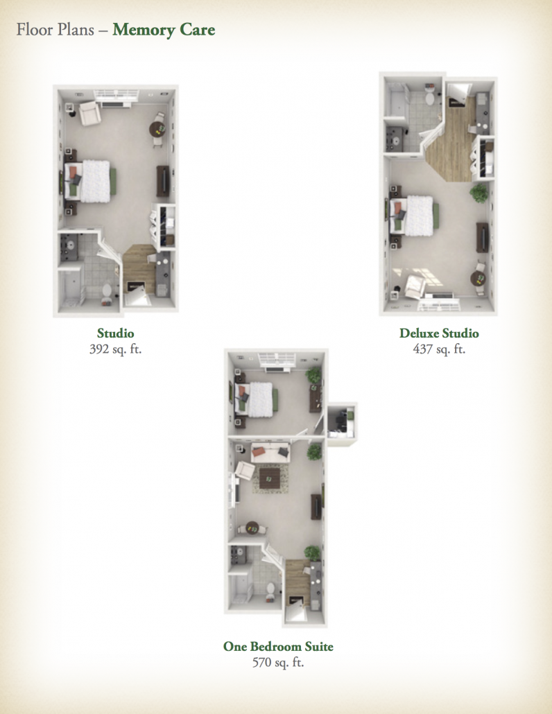 Orchard Brookhaven - Memory Care Floor Plans