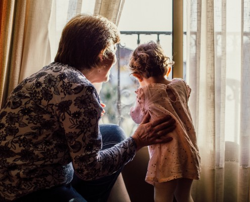 Dementia caregiving with kids at home